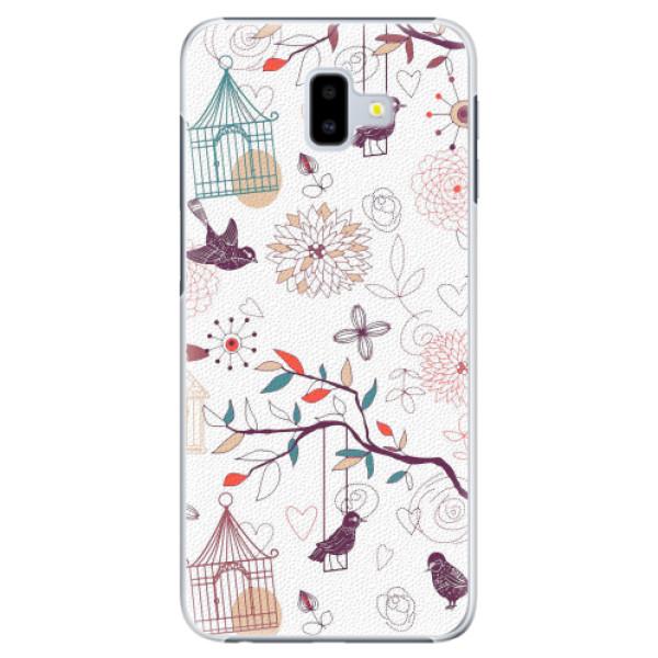 Plastové pouzdro iSaprio - Birds - Samsung Galaxy J6+