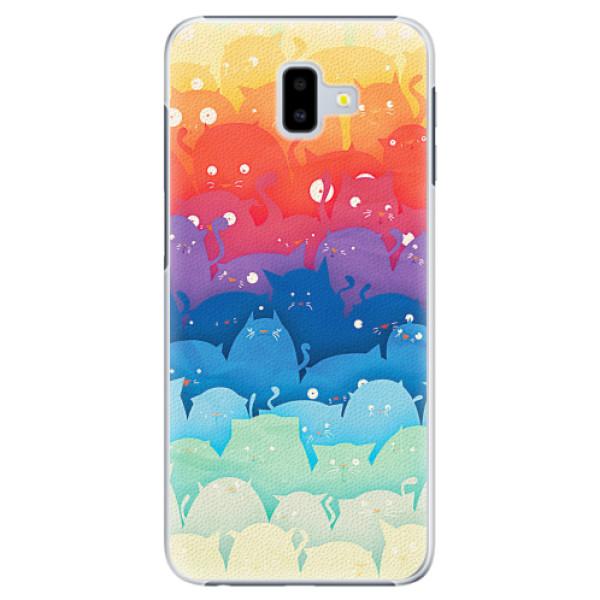 Plastové pouzdro iSaprio - Cats World - Samsung Galaxy J6+