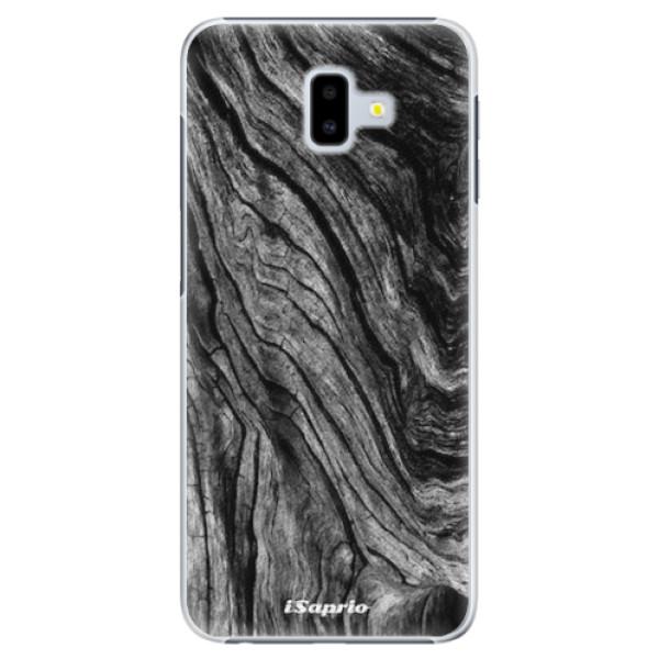 Plastové pouzdro iSaprio - Burned Wood - Samsung Galaxy J6+