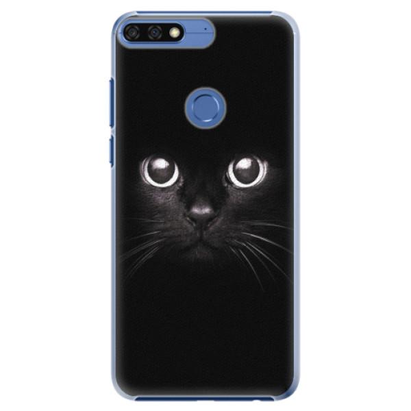Plastové pouzdro iSaprio - Black Cat - Huawei Honor 7C