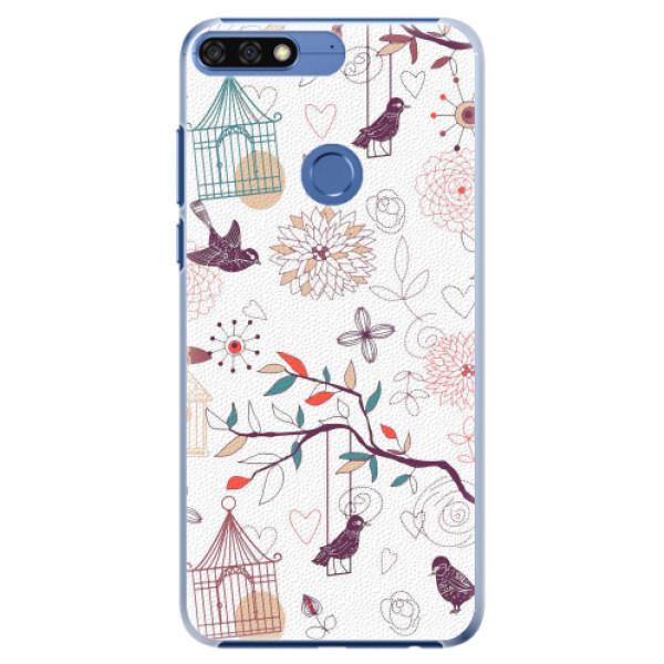 Plastové pouzdro iSaprio - Birds - Huawei Honor 7C