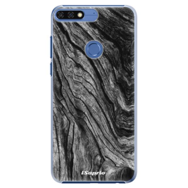 Plastové pouzdro iSaprio - Burned Wood - Huawei Honor 7C