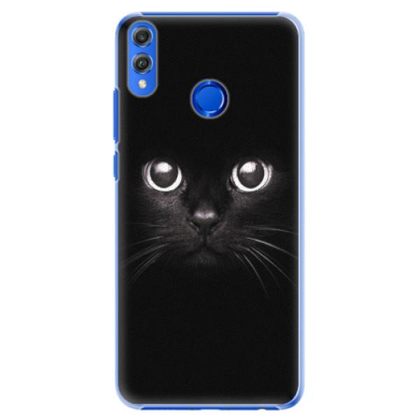 Plastové pouzdro iSaprio - Black Cat - Huawei Honor 8X