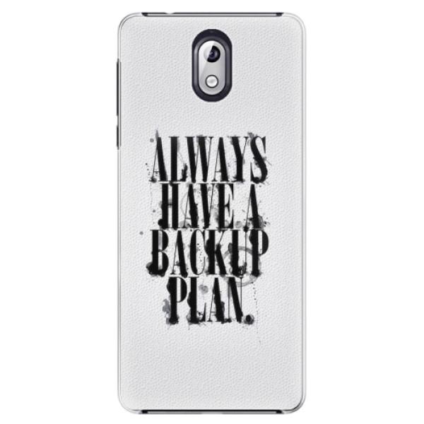 Plastové pouzdro iSaprio - Backup Plan - Nokia 3.1