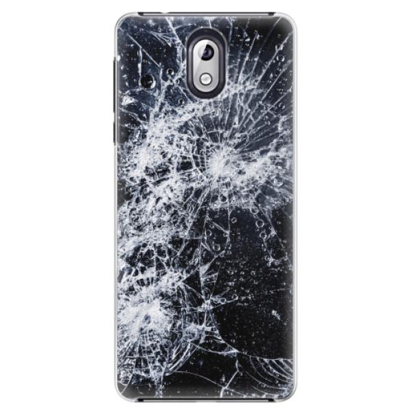 Plastové pouzdro iSaprio - Cracked - Nokia 3.1