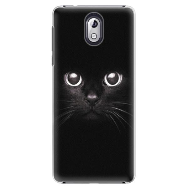 Plastové pouzdro iSaprio - Black Cat - Nokia 3.1
