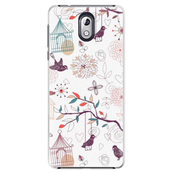 Plastové pouzdro iSaprio - Birds - Nokia 3.1