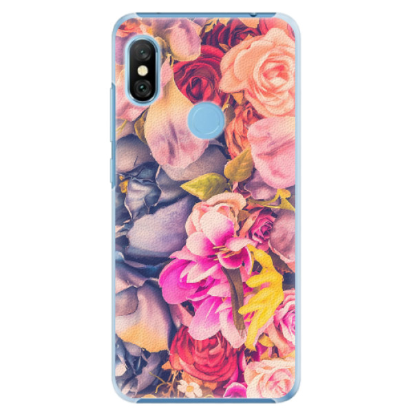 Plastové pouzdro iSaprio - Beauty Flowers - Xiaomi Redmi Note 6 Pro
