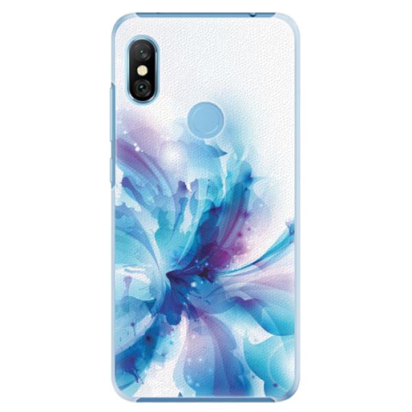 Plastové pouzdro iSaprio - Abstract Flower - Xiaomi Redmi Note 6 Pro