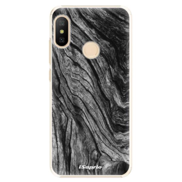 Plastové pouzdro iSaprio - Burned Wood - Xiaomi Mi A2 Lite