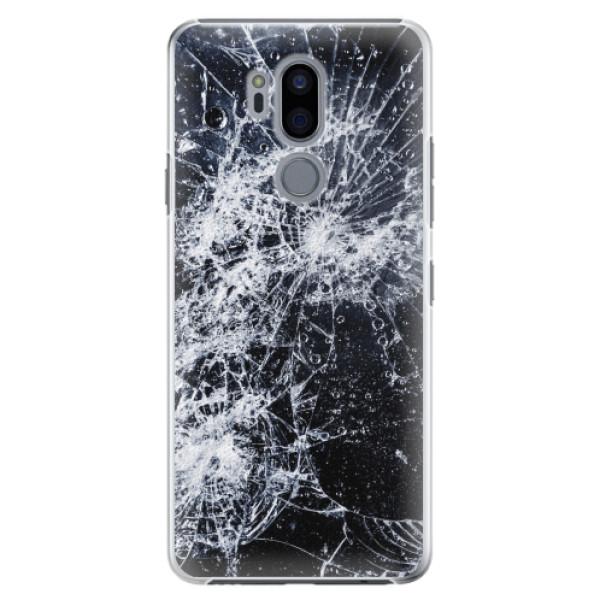Plastové pouzdro iSaprio - Cracked - LG G7