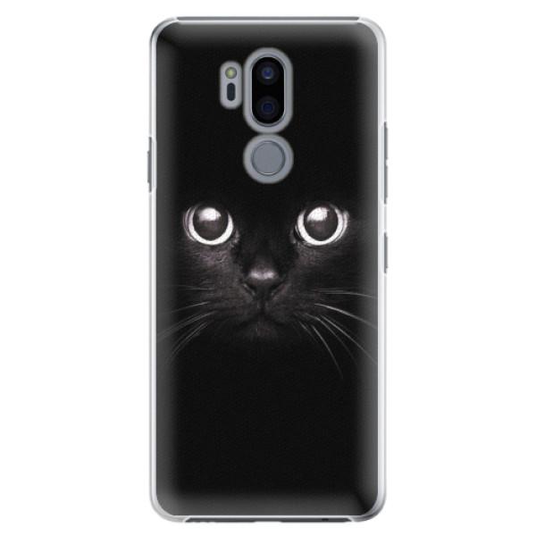 Plastové pouzdro iSaprio - Black Cat - LG G7