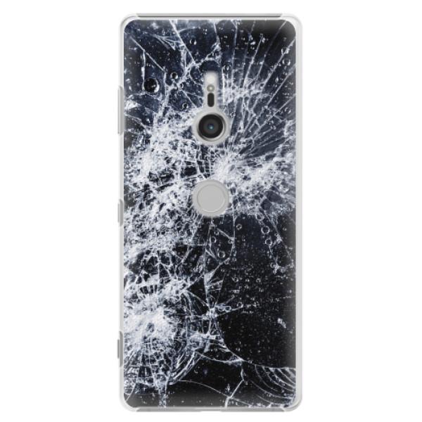 Plastové pouzdro iSaprio - Cracked - Sony Xperia XZ3