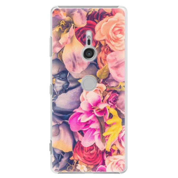 Plastové pouzdro iSaprio - Beauty Flowers - Sony Xperia XZ3