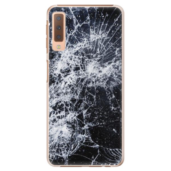 Plastové pouzdro iSaprio - Cracked - Samsung Galaxy A7 (2018)