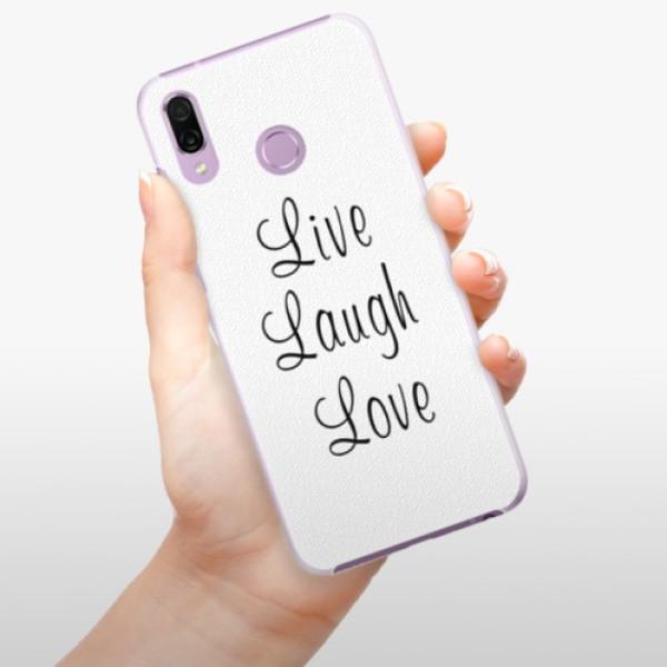 Plastové pouzdro iSaprio - Live Laugh Love - Huawei Honor Play