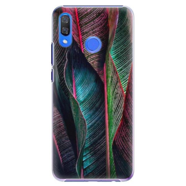 Plastové pouzdro iSaprio - Black Leaves - Huawei Y9 2019
