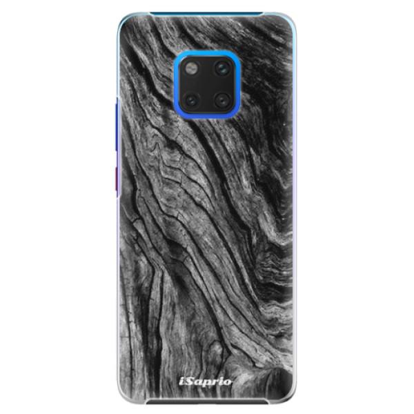 Plastové pouzdro iSaprio - Burned Wood - Huawei Mate 20 Pro