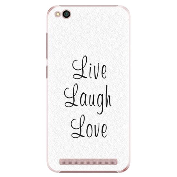 Plastové pouzdro iSaprio - Live Laugh Love - Xiaomi Redmi 5A