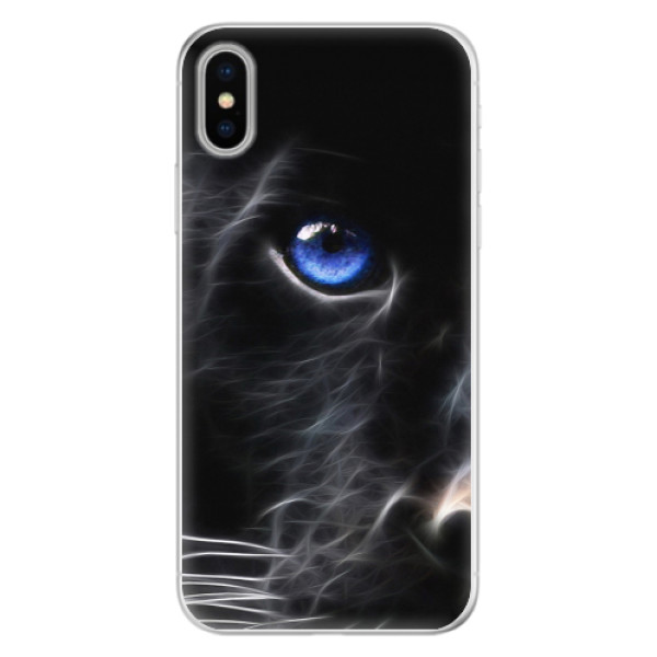 Silikonové pouzdro iSaprio - Black Puma - iPhone X