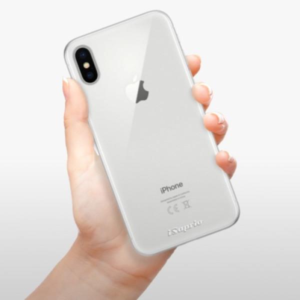 Silikonové pouzdro iSaprio - 4Pure - mléčný bez potisku - iPhone X
