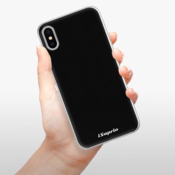 Silikonové pouzdro iSaprio - 4Pure - černý - iPhone X