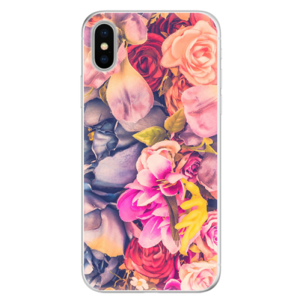 Silikonové pouzdro iSaprio - Beauty Flowers - iPhone X