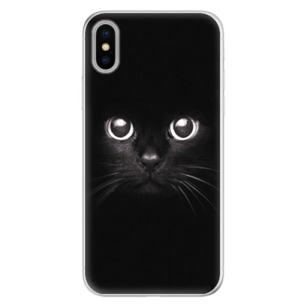 Silikonové pouzdro iSaprio - Black Cat - iPhone X