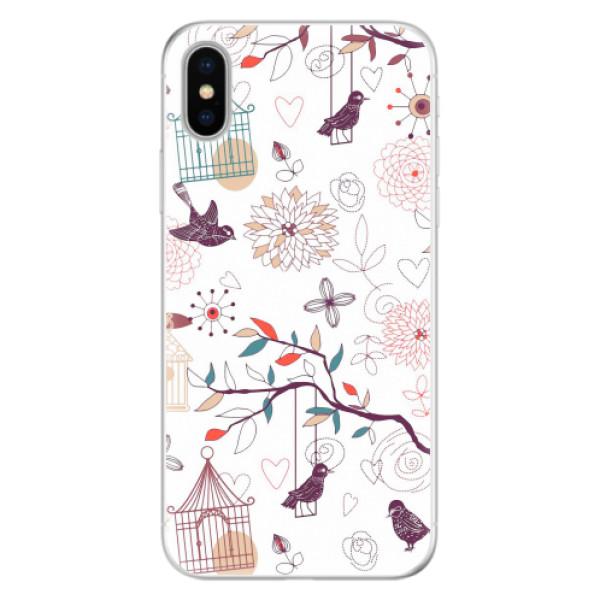 Silikonové pouzdro iSaprio - Birds - iPhone X