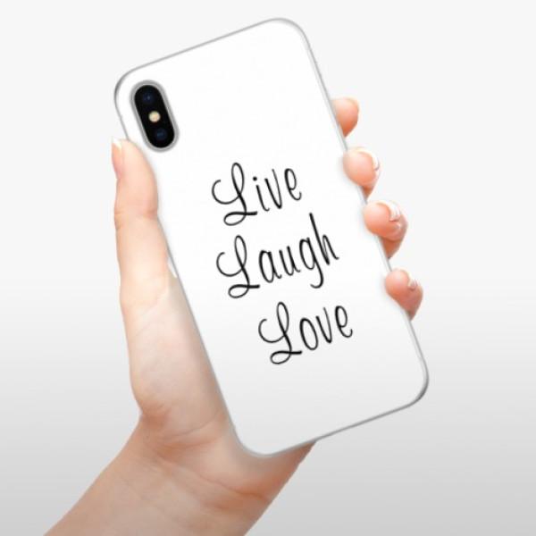 Silikonové pouzdro iSaprio - Live Laugh Love - iPhone X