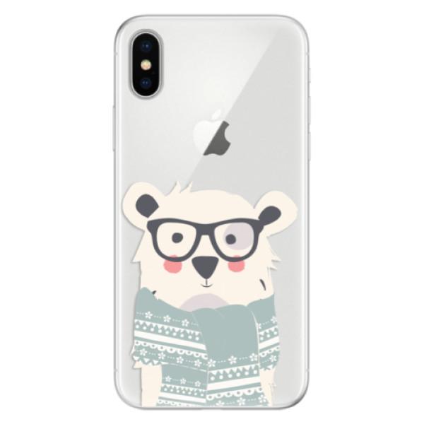 Silikonové pouzdro iSaprio - Bear with Scarf - iPhone X
