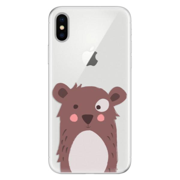 Silikonové pouzdro iSaprio - Brown Bear - iPhone X