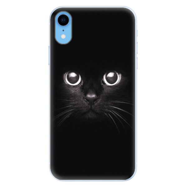 Silikonové pouzdro iSaprio - Black Cat - iPhone XR