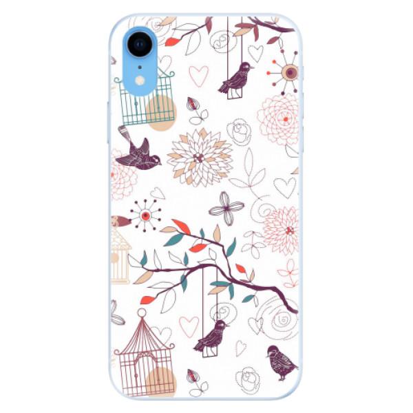 Silikonové pouzdro iSaprio - Birds - iPhone XR