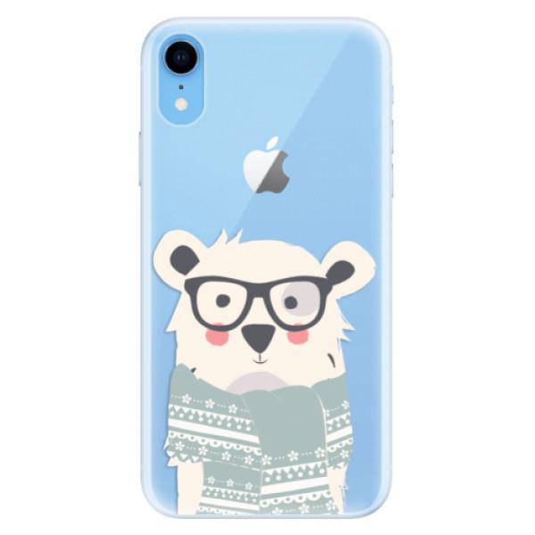 Silikonové pouzdro iSaprio - Bear with Scarf - iPhone XR