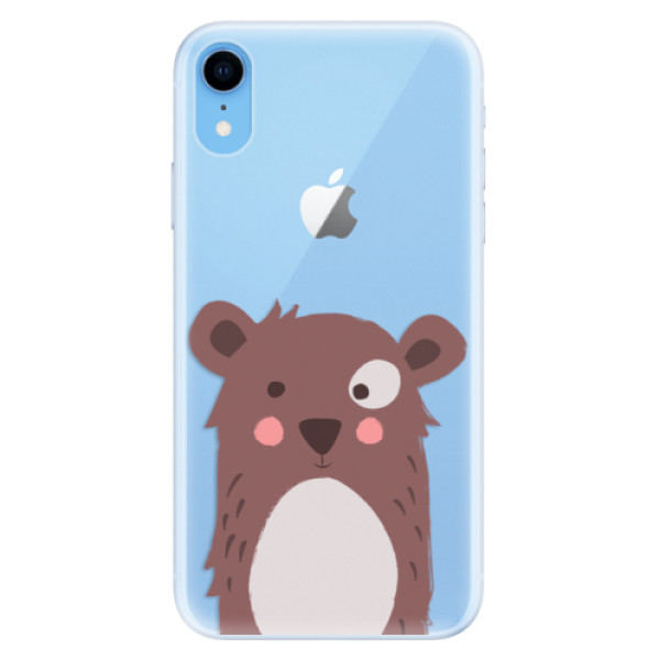 Silikonové pouzdro iSaprio - Brown Bear - iPhone XR