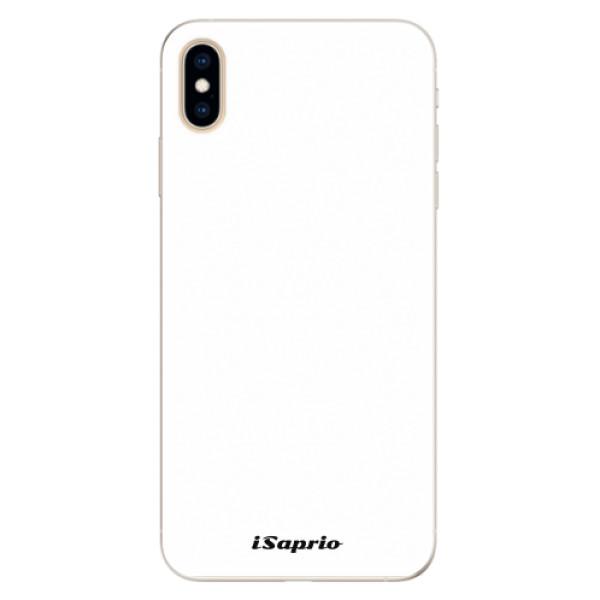 Silikonové pouzdro iSaprio - 4Pure - bílý - iPhone XS Max