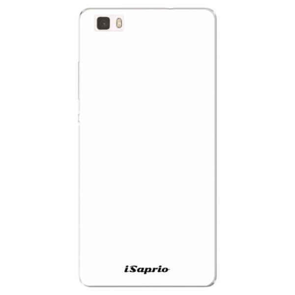 Silikonové pouzdro iSaprio - 4Pure - bílý - Huawei Ascend P8 Lite