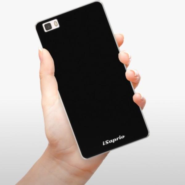Silikonové pouzdro iSaprio - 4Pure - černý - Huawei Ascend P8 Lite