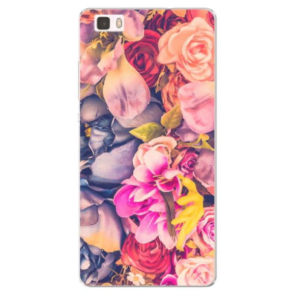 Silikonové pouzdro iSaprio - Beauty Flowers - Huawei Ascend P8 Lite