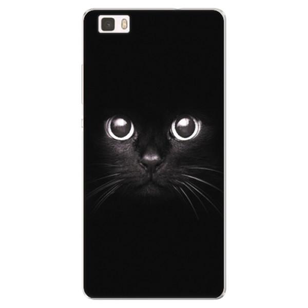 Silikonové pouzdro iSaprio - Black Cat - Huawei Ascend P8 Lite