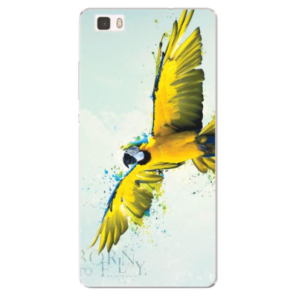 Silikonové pouzdro iSaprio - Born to Fly - Huawei Ascend P8 Lite
