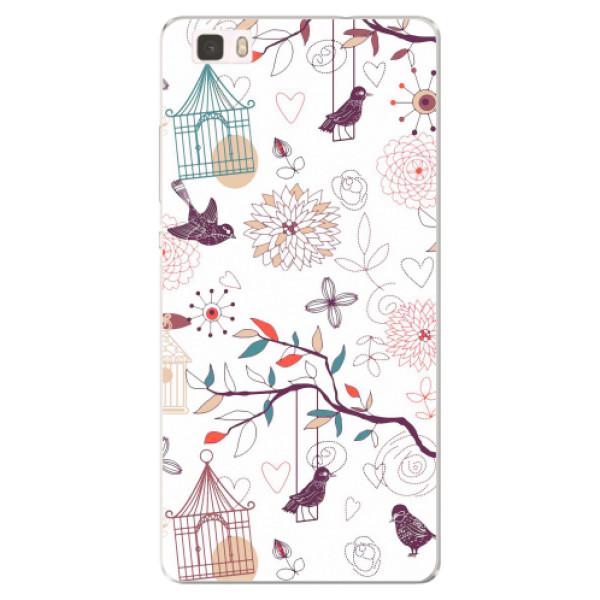 Silikonové pouzdro iSaprio - Birds - Huawei Ascend P8 Lite