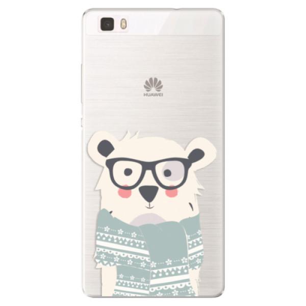 Silikonové pouzdro iSaprio - Bear with Scarf - Huawei Ascend P8 Lite