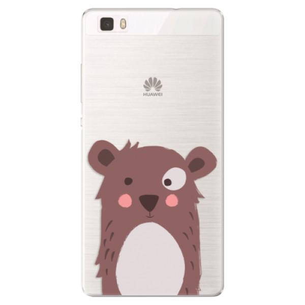Silikonové pouzdro iSaprio - Brown Bear - Huawei Ascend P8 Lite