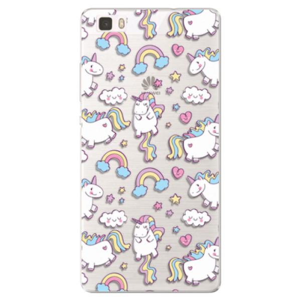 Silikonové pouzdro iSaprio - Unicorn pattern 02 - Huawei Ascend P8 Lite