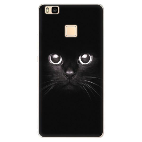 Silikonové pouzdro iSaprio - Black Cat - Huawei Ascend P9 Lite