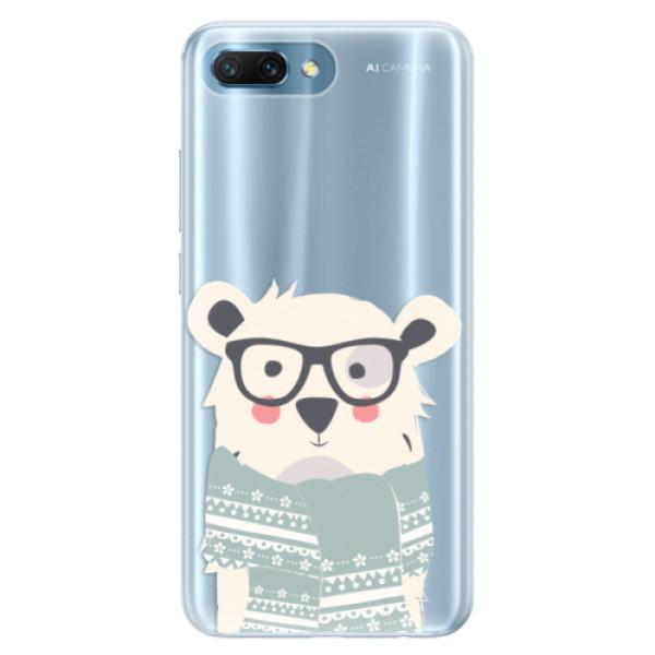 Silikonové pouzdro iSaprio - Bear with Scarf - Huawei Honor 10