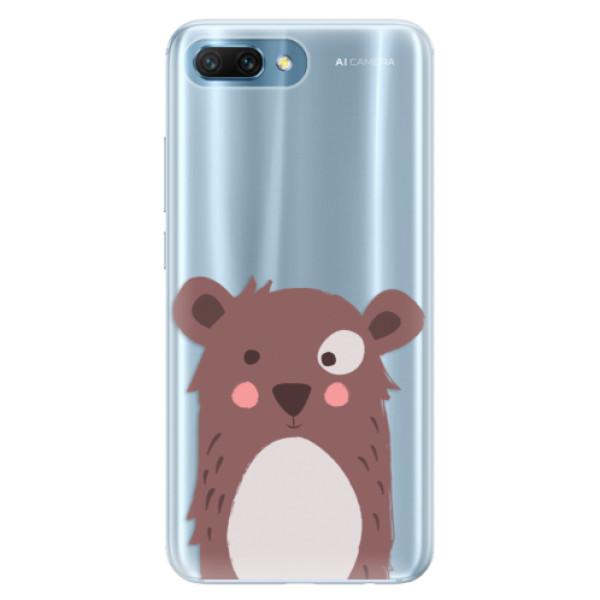 Silikonové pouzdro iSaprio - Brown Bear - Huawei Honor 10