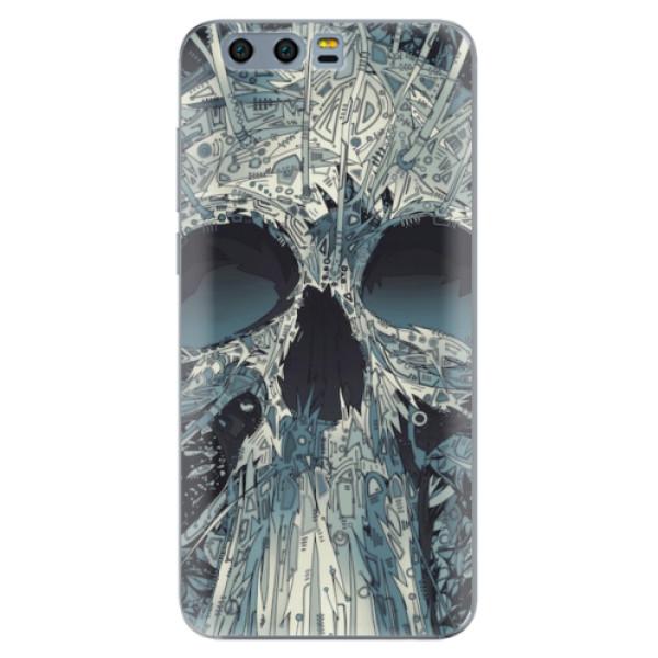 Silikonové pouzdro iSaprio - Abstract Skull - Huawei Honor 9